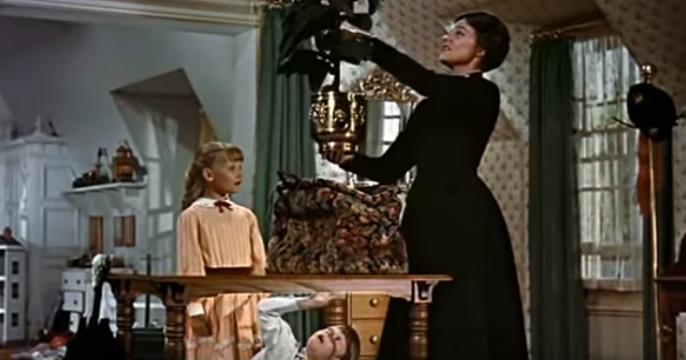 Mary Poppins, disney, extrait sac à man, image you tube