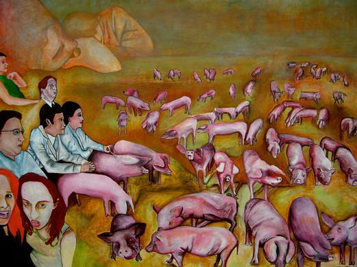Les intellectuels dans un champ de cochons