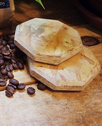 Descanso de copo em madeira