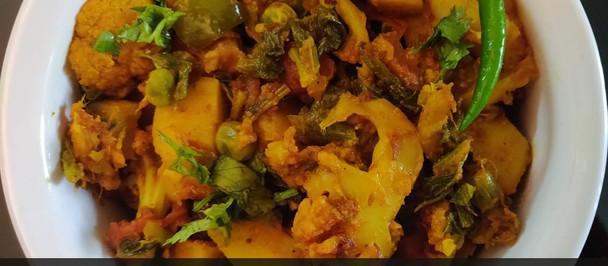 Mix Vegetable Sabzi Recipe (Annakut ki sabzi)