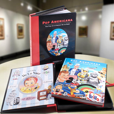 An art book packed inside a custom litho jewlery box