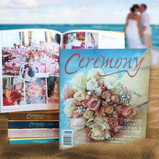 Wedding magazines bound with section-sewn