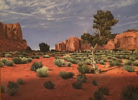 """Sold  36x46 """"Spearhead Mesa Monument Valley"""""""