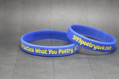 3193 Poetry Ave Wristband (Blue)