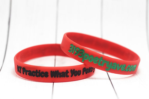 RBG Practice What You Poetry Wristband
