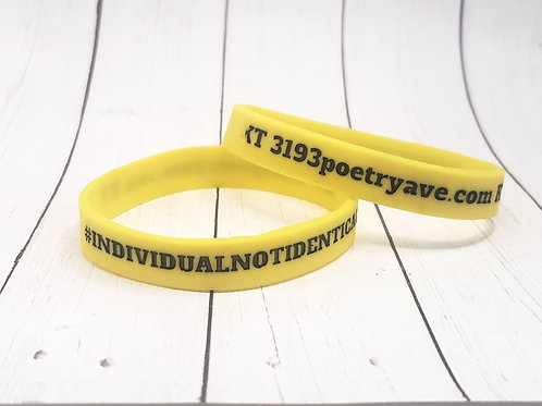 Individual Not Identical Wristbands