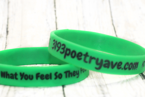 Speak What You Feel 3193 Poetry Ave Wristband (Green)