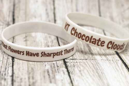 Chocolate Clouds Wrsitbands (White)