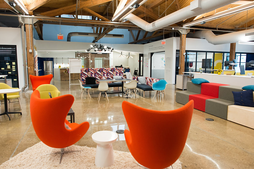 Trendy modern open concept loft office s