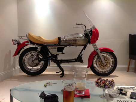Visitors Bikes: Richard Creswell's cleverly modified California.