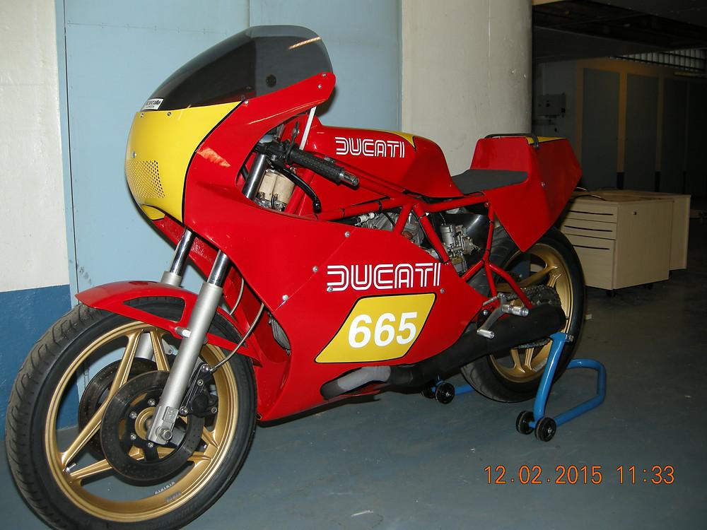 Ducati TT2 with road documents.JPG