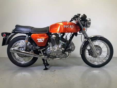 Ducati 750GT 1972 Sand cast restoration just finished.
