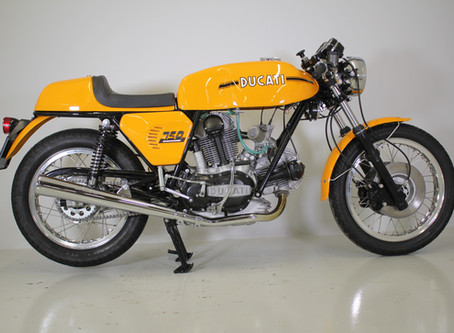 Ducati 750 Sport 1973, fully restored.