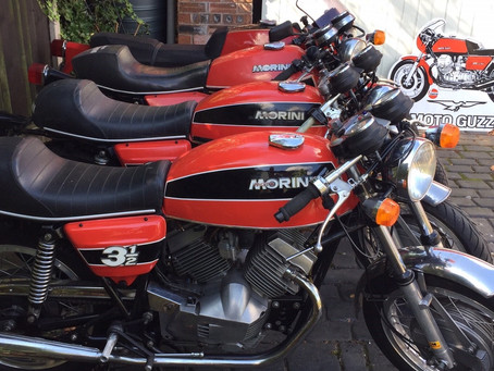 Visitors page: Nigel's lovely Morini and Guzzi selection.