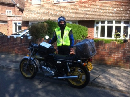 Visitors Gallery: Chris from Ipswich having a fantastic ride around Scotland.