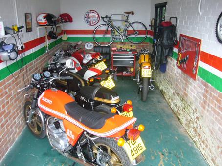 Inside Greg's garage