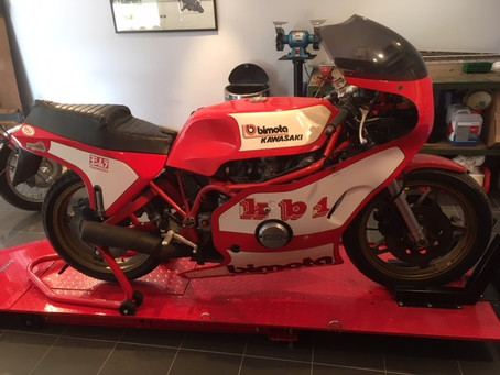 Bimota KB1 for restoration.