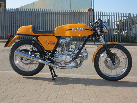 Ducati 750 Sport restoration: Just finished and sold.