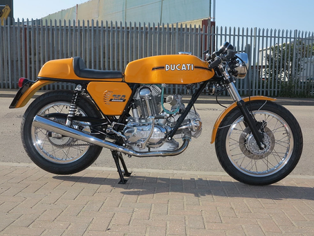 Ducati 750 Sport 1974 to be fully restored in our workshop.
