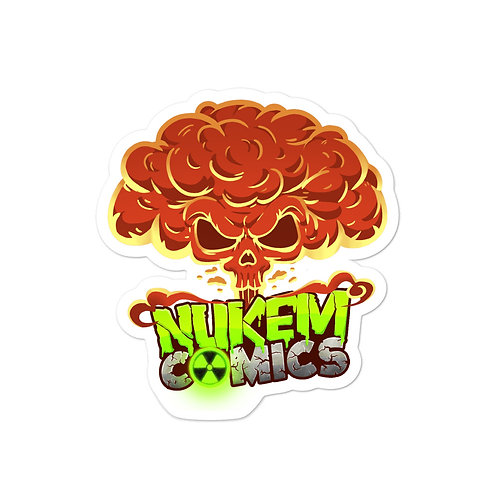 Nukem Comics 5 inch sticker