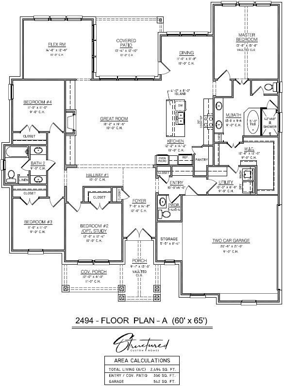 Chancello Custom Home Floor Plan