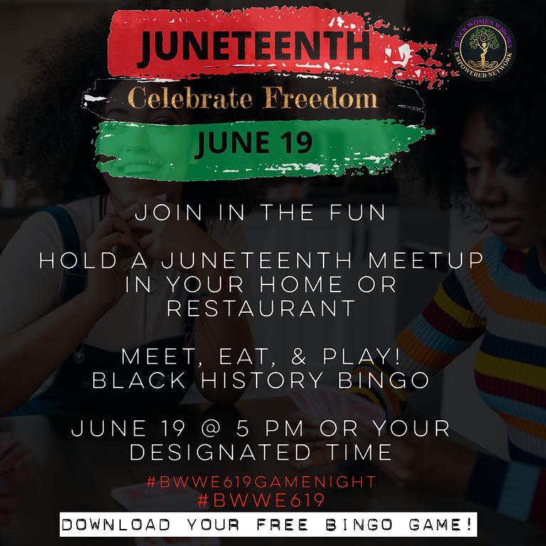 Juneteenth: Meet, Eat & Play - Black History Bingo! Get your FREE download today!