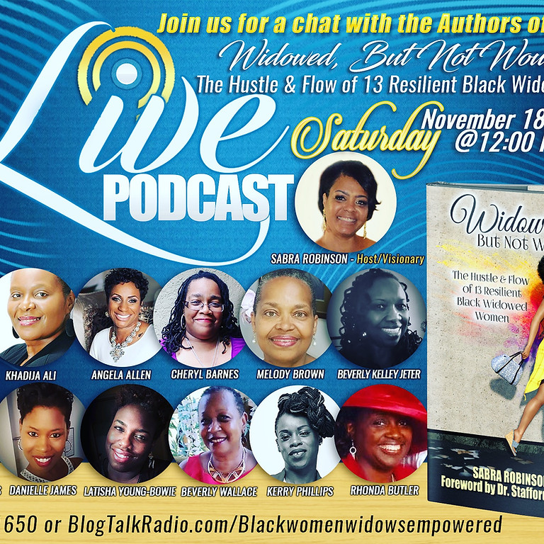 Podcast with the contributing authors of Widowed But  Not Wounded