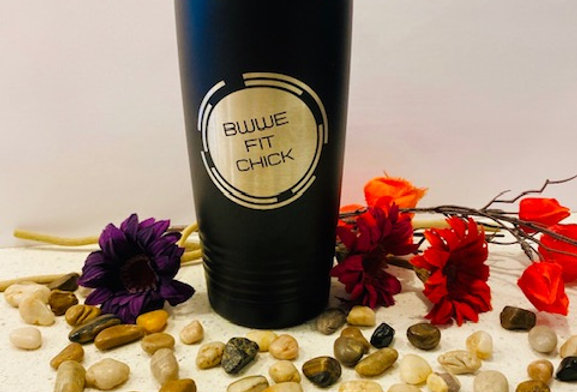 BWWE Fit Chick 20 oz Tumbler (Lid Type: Slider Lid) - Shipping included