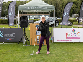 Teeing off the day at the Paces charity golf event