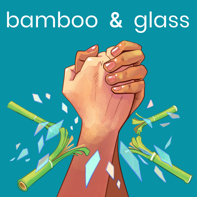 "logo for ""bamboo & glass"""