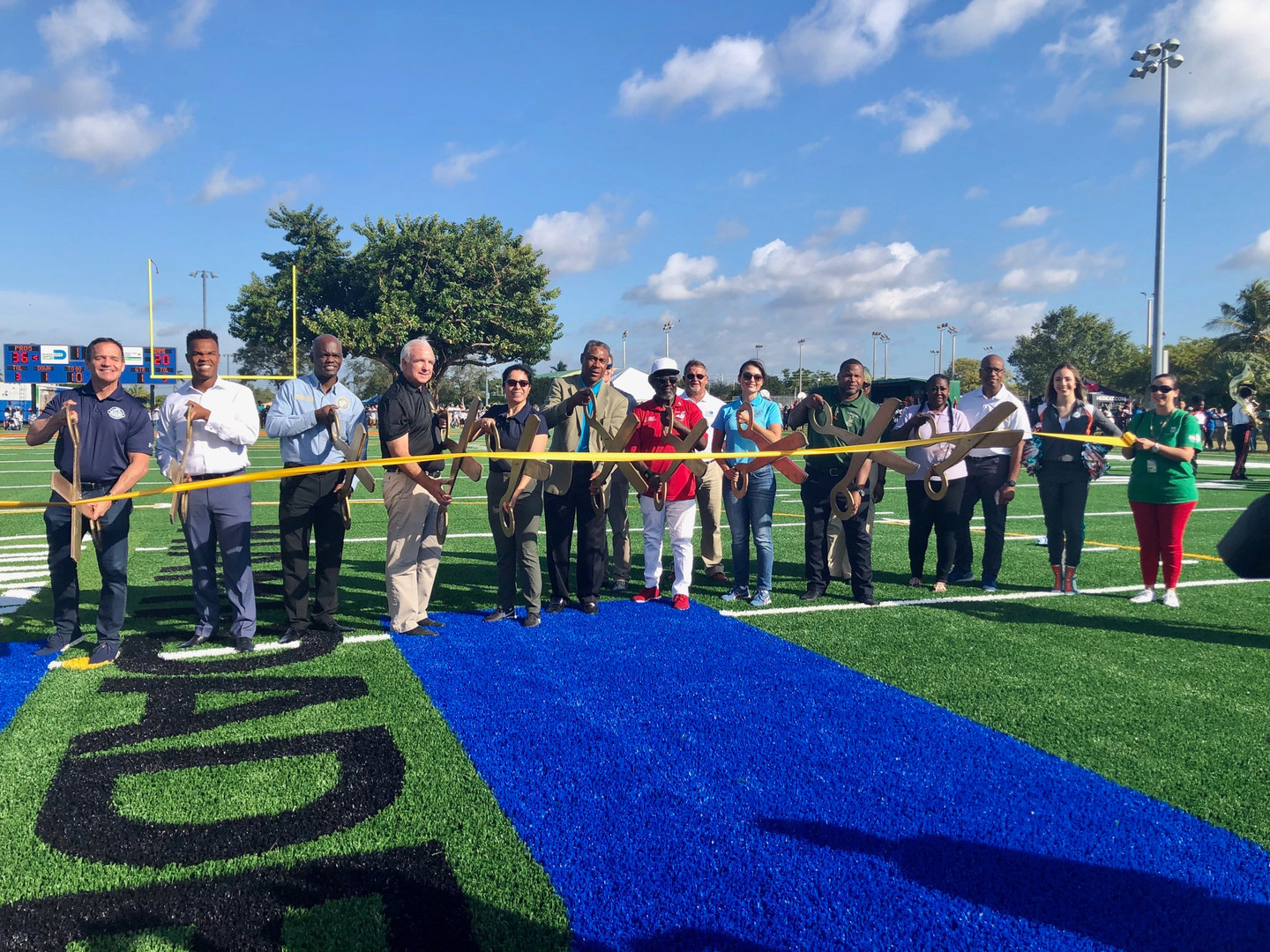 Goulds Park Football Field Groundbreaking