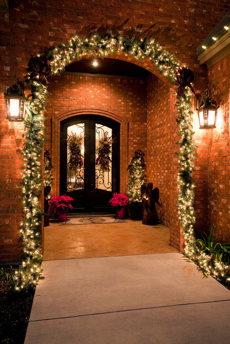 Christmas Garland at front door