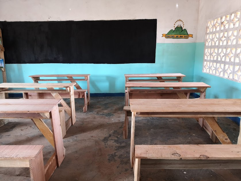 Newly painted classroom