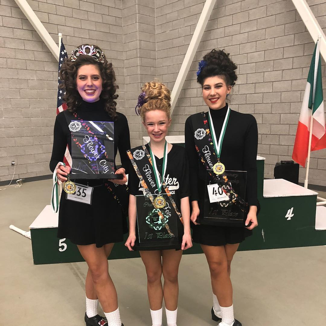 Three of our dancers got first at the flower city feis!