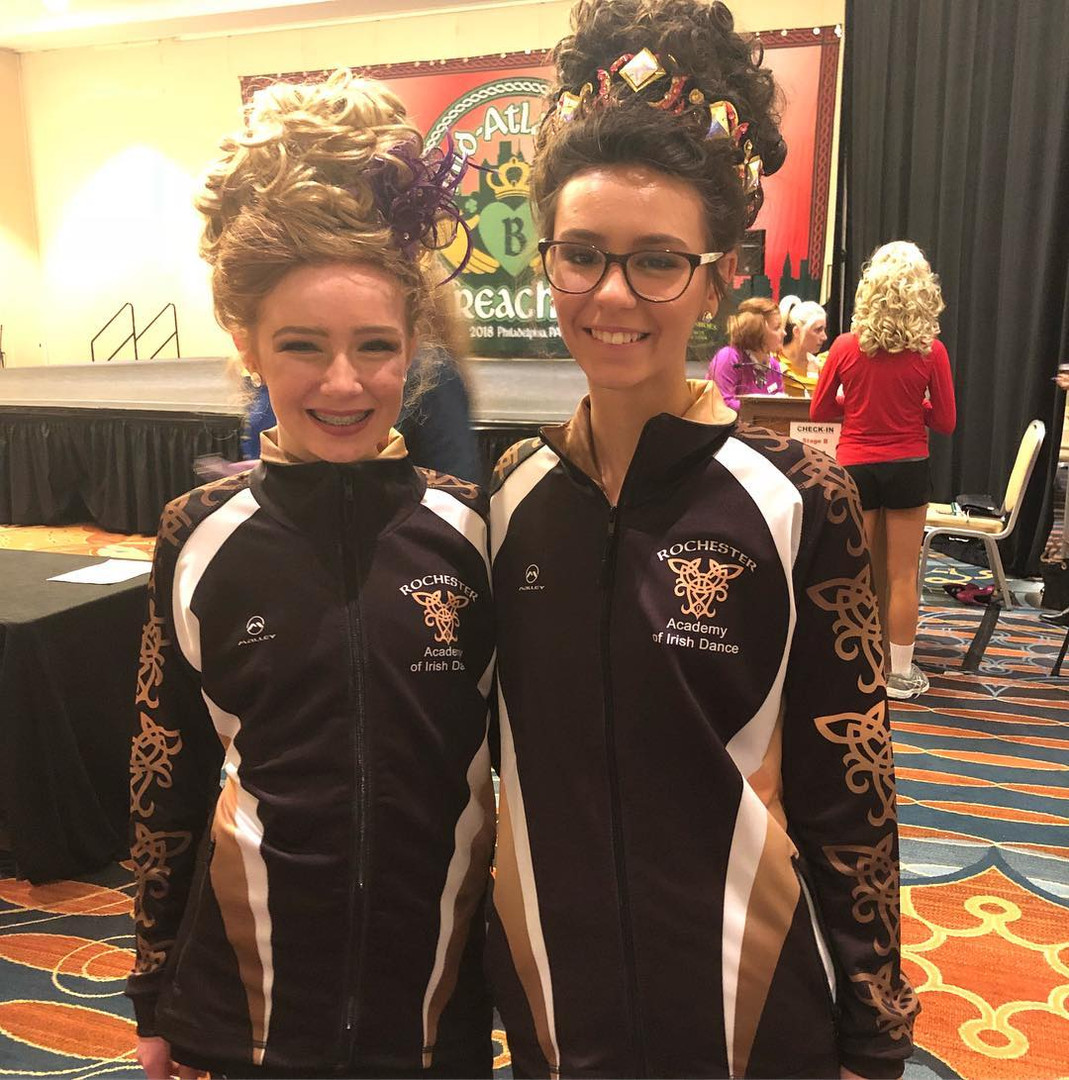 Two of our dancers who recalled at oireachtas