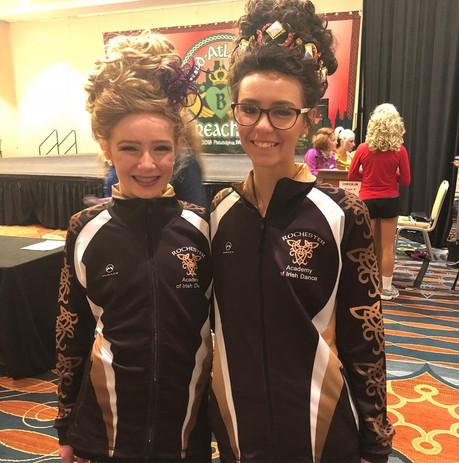 Rochester Academy Irish dancers in their Malley Sport warmup jackets
