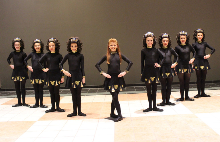 Rochester Academy Irish Dancers in an eight hand ceili at Oireachtas