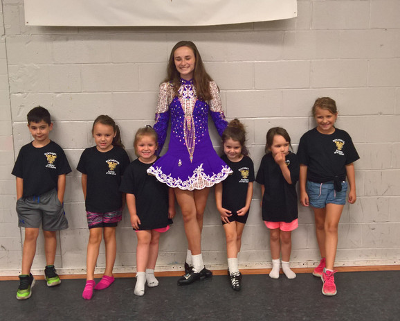 Some of our beginners with one of our champ dancers