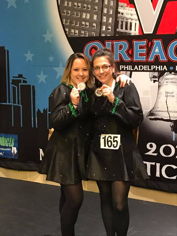 Some of our adult dancers with their Oireachtas medals