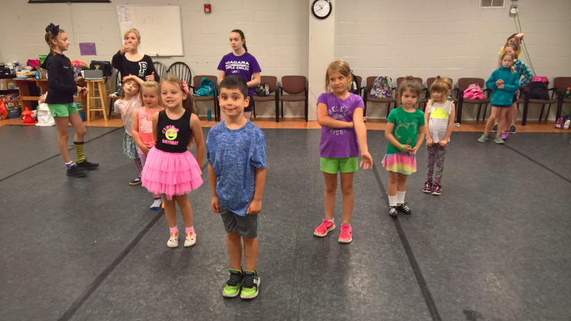 """Our beginners ready to start their """"little warrior"""" dance"""