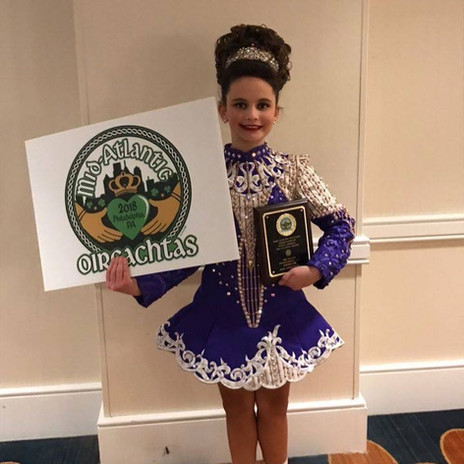 Rochester Academy Irish Dancer who placed third in the traditional set competition