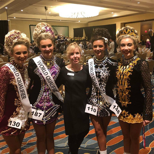 Our u16 dancers with Paula Burke at mid atlantic reigon oireachtas 2018