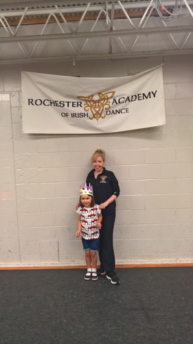One of our beginners with Paula Burke TCRG at our summer fun camp