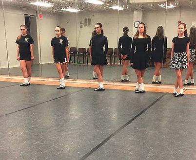 Rochester Academy Irish Dancers taking Grade Exams