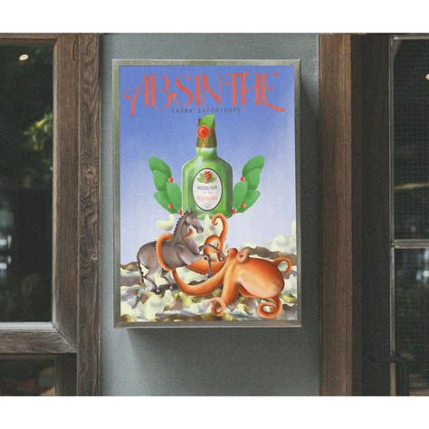 absinthe - battle of titans creative idea
