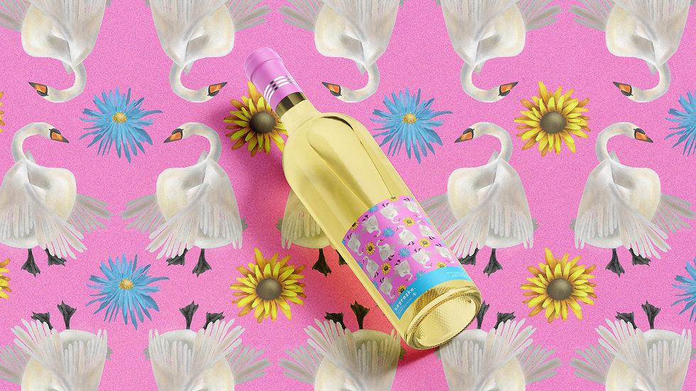 Negresko, design étiquette bouteille de vin