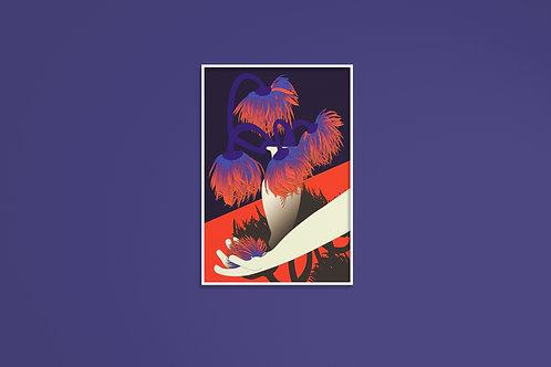 Poster digital -Les derniers Dhalias du Jardin