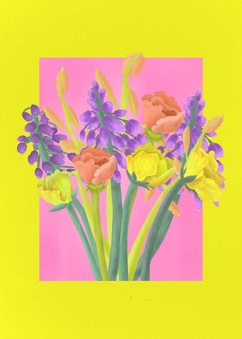 Fleurs bleues vase violet poster.jpg