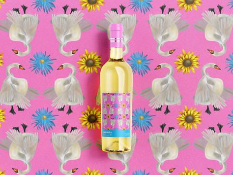 template - cygne wine bottle
