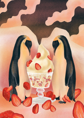 fraisier frozen dessert